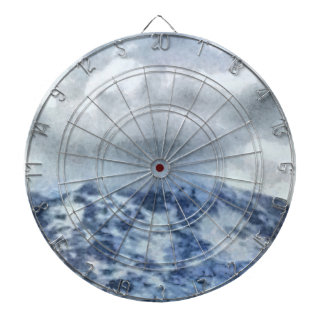 Ice capped mountains dartboard