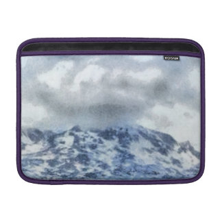 Ice capped mountains MacBook sleeve