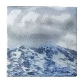 Ice capped mountains tile