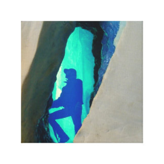 Ice Cave Canvas Stretched Canvas Prints