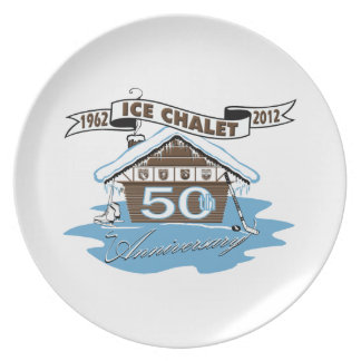 Ice Chalet 50th Anniversary Commemorative Plate