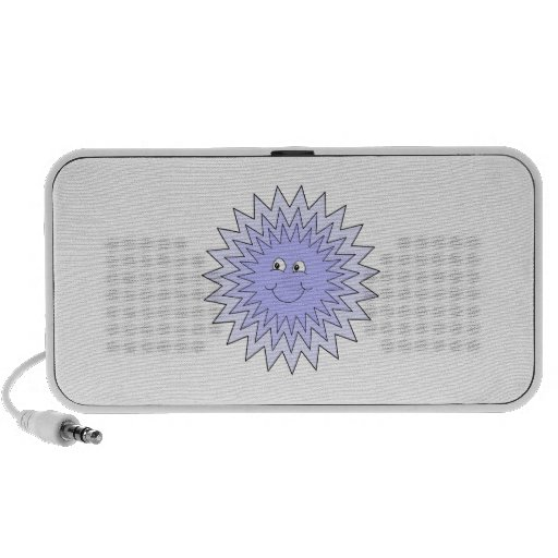 Ice Character with a Smile. Blue on White. Mp3 Speaker