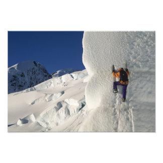 Ice climbing on the Tasman Glacier below Mount Photo Art
