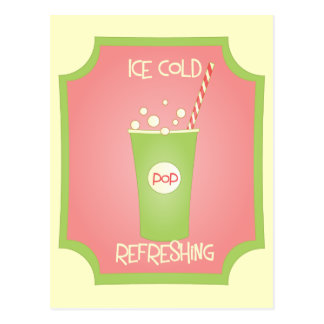 Ice Cold Refreshing Pop Postcard
