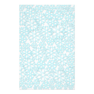 Ice Cold Snowflakes pattern Personalized Stationery