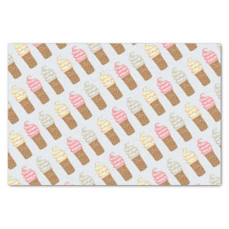 "ICE CONE CREAM CARTOON 10"" x 15""- 10lb TissuePaper Tissue Paper"