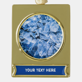 Ice Cool Xmas Gold Plated Banner Ornament