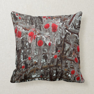 Ice covered berries pillow