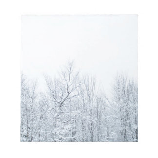 Ice Covered Tree Tops Notepad