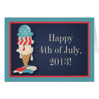 Ice Cream 4th of July Party Greeting Card
