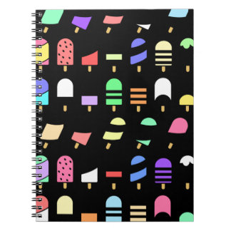 Ice Cream All Over – Colorful Repeating Pattern Notebook