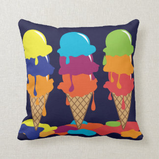 Ice Cream American Mojo Throw Pillow