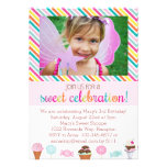 Ice Cream and Candy Party Invitation Personalized Invites