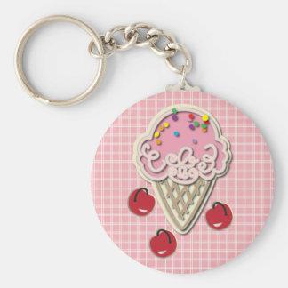 Ice Cream and Cherries Keychain