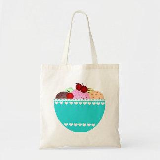 Ice Cream and Cherries Tote Bag