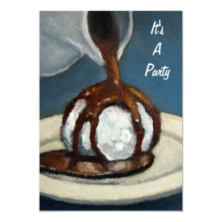 "Ice Cream and Chocolate: Party Invitation: Art 5"" X 7"" Invitation Card"