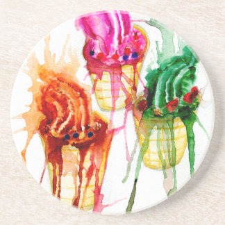 Ice Cream Art 2 Coaster