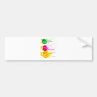 Ice Cream Art Bumper Sticker