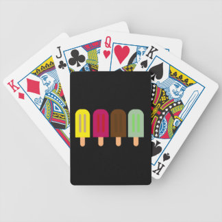 Ice cream bar bicycle playing cards