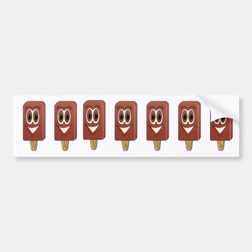 Ice Cream Bar Cartoon Bumper Stickers