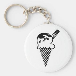 Ice Cream Basic Round Button Key Ring