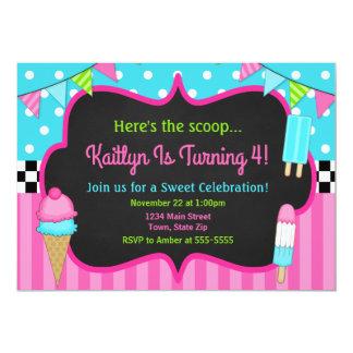 Ice Cream Birthday Invitation Ice Cream Party
