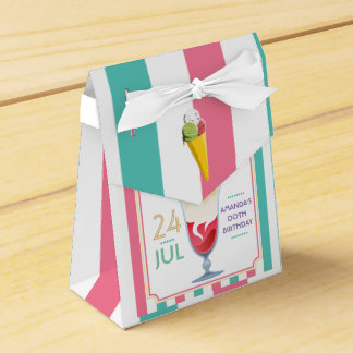 Ice Cream Birthday Party personalized Favour Box