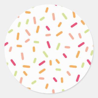 Ice Cream Birthday Party Round Sticker