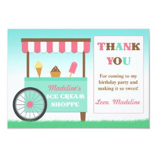 Ice Cream Birthday Party Thank You 9 Cm X 13 Cm Invitation Card