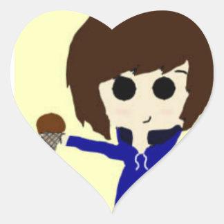 Ice cream Boy Heart Sticker