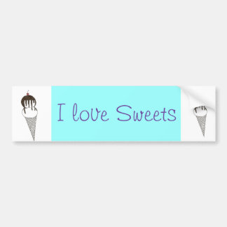 Ice Cream Bumper Sticker