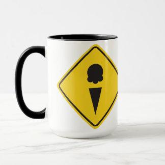 Ice Cream Caution Sign Mug