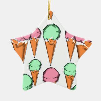 ice cream ceramic star decoration