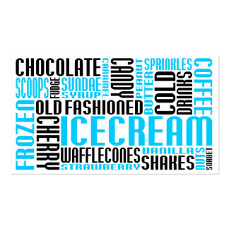 ice cream (chit chat) business cards