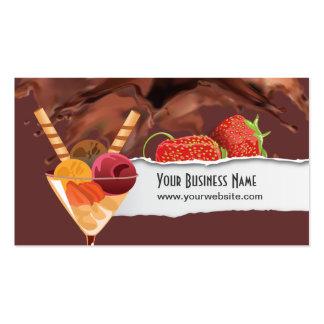Ice Cream & Chocolate Dessert Business Card