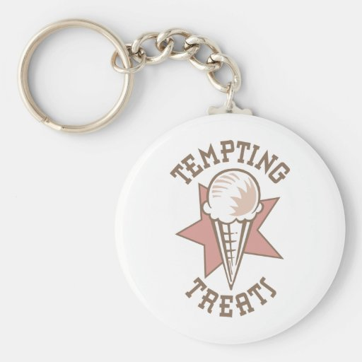 Ice Cream Cone - A Tempting Treat Key Chains