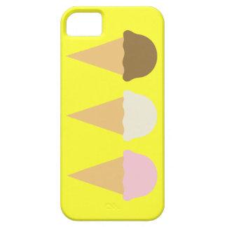 Ice cream cone cones yellow desserts iPhone 5 case