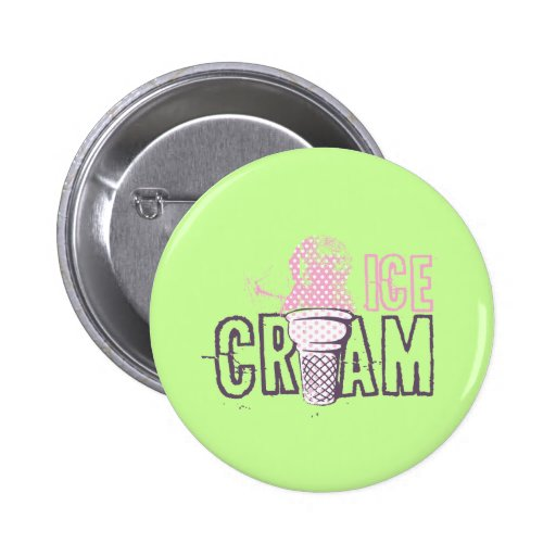 Ice Cream Cone Food Desserts Sweet Snack Love Pinback Buttons