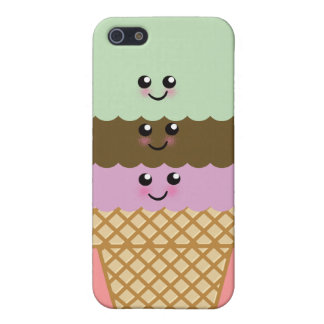 Ice Cream Cone Kawaii Art Cover For iPhone 5