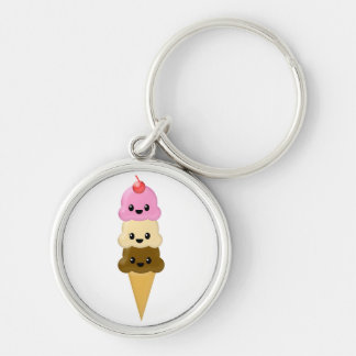 Ice Cream Cone Key Chain