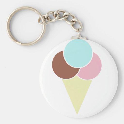 Ice Cream Cone Key Chains