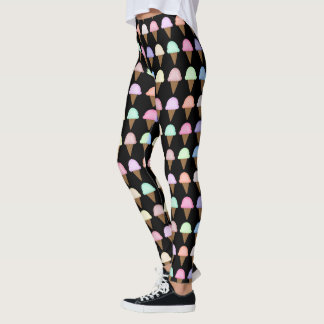 Ice Cream Cone Leggings Unique Fun Gift Women
