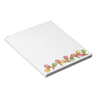Ice Cream Cone - Notepad