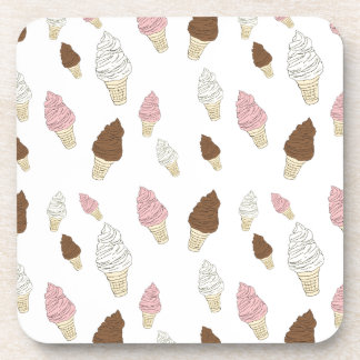 Ice Cream Cone Pattern Beverage Coaster