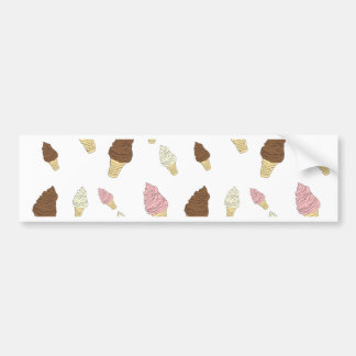 Ice Cream Cone Pattern Bumper Sticker