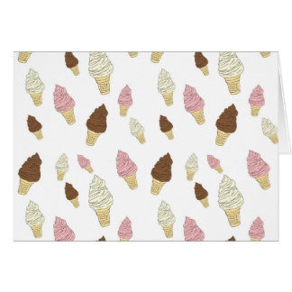 Ice Cream Cone Pattern Card