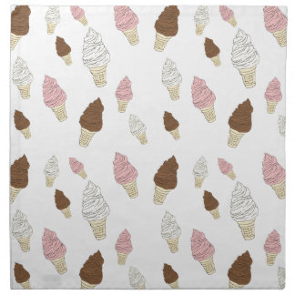 Ice Cream Cone Pattern Napkin
