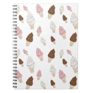 Ice Cream Cone Pattern Notebook
