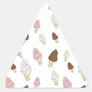 Ice Cream Cone Pattern Triangle Sticker