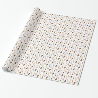 Ice Cream Cone Pattern Wrapping Paper